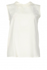 Set |  Sleeveless top with lace collar Ole | wit  | Picture 1