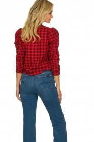 Munthe |  Checkered blouse Jaen | red  | Picture 6