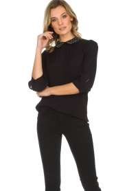 Set |  Top with studded collar Aisha | black  | Picture 2