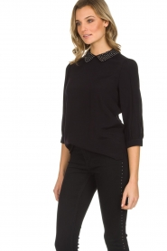 Set |  Top with studded collar Aisha | black  | Picture 4