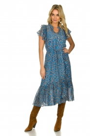 Munthe |  Dress with print Jezz | blue  | Picture 3