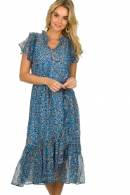 Munthe |  Dress with print Jezz | blue  | Picture 6