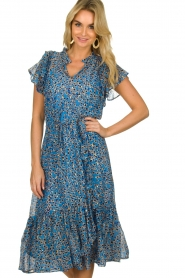 Munthe |  Dress with print Jezz | blue  | Picture 2