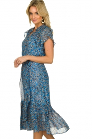 Munthe |  Dress with print Jezz | blue  | Picture 4