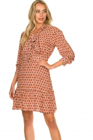 Kocca | Dress with print Ris | red  | Picture 2