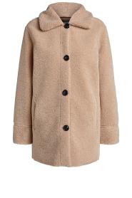 Set |  Teddy coat Cecile | camel  | Picture 1