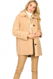 Set |  Teddy coat Cecile | camel  | Picture 4