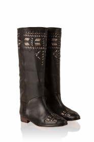 Leather boots Indian | black