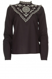 Set |  Top with embroideries Julie | black  | Picture 1