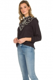 Set |  Top with embroideries Julie | black  | Picture 4