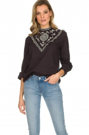 Set |  Top with embroideries Julie | black  | Picture 2