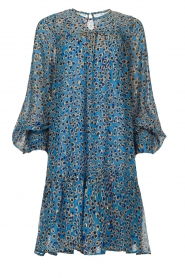 Munthe |  Dress with print | blue  | Picture 1