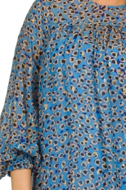 Munthe |  Dress with print | blue  | Picture 6