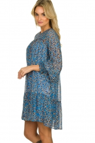 Munthe |  Dress with print | blue  | Picture 4