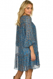 Munthe |  Dress with print | blue  | Picture 5