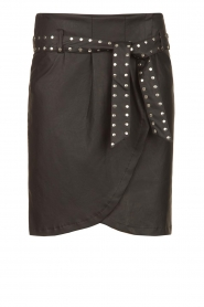 Silvian Heach |  Faux leather paperbag skirt Birthsean | black  | Picture 1
