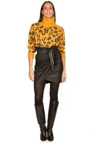 Silvian Heach    Faux leather paperbag skirt Birthsean   black    Picture 4
