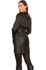 Silvian Heach |  Faux leather paperbag skirt Birthsean | black  | Picture 7