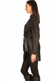 Silvian Heach |  Faux leather paperbag skirt Birthsean | black  | Picture 6