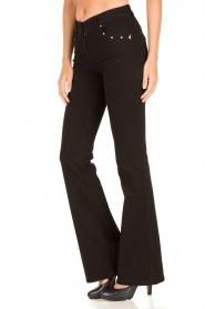 Patrizia Pepe | Flair jeans Angelina | zwart  | Afbeelding 4