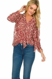 Munthe |  Blouse Jadyn | red  | Picture 4