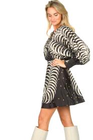 Silvian Heach |  Print dress Chavez | black  | Picture 5