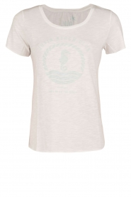 Juvia | T-shirt Beach Club | wit  | Afbeelding 1