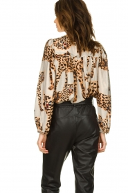 Munthe |  Blouse with leopard print Jet | animal print  | Picture 6