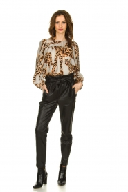 Munthe |  Blouse with leopard print Jet | animal print  | Picture 3