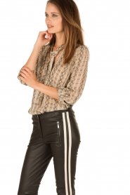 Patrizia Pepe | Pussybow blouse Tanja | print  | Afbeelding 4