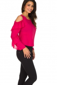 Patrizia Pepe | Top met blote schouders Kourt | roze  | Afbeelding 5