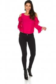 Patrizia Pepe | Top met blote schouders Kourt | roze  | Afbeelding 3