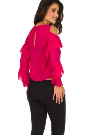 Patrizia Pepe | Top met blote schouders Kourt | roze  | Afbeelding 6
