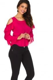 Patrizia Pepe | Top met blote schouders Kourt | roze  | Afbeelding 4