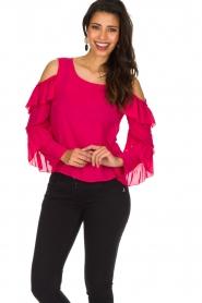 Patrizia Pepe | Top met blote schouders Kourt | roze  | Afbeelding 2