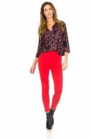 Set |  Blouse with floral print Jenna | black  | Picture 3