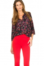 Set |  Blouse with floral print Jenna | black  | Picture 4
