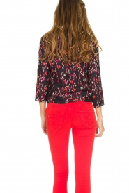 Set |  Blouse with floral print Jenna | black  | Picture 6
