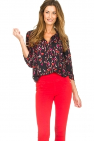 Set |  Blouse with floral print Jenna | black  | Picture 2