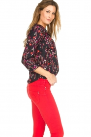 Set |  Blouse with floral print Jenna | black  | Picture 5