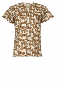 Munthe |  T-shirt with leopard print Jeremy | animal print  | Picture 1