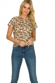 Munthe |  T-shirt with leopard print Jeremy | animal print  | Picture 4