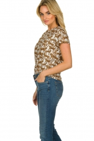 Munthe |  T-shirt with leopard print Jeremy | animal print  | Picture 5