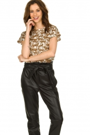 Munthe |  T-shirt with leopard print Jeremy | animal print  | Picture 2