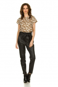 Munthe |  T-shirt with leopard print Jeremy | animal print  | Picture 3