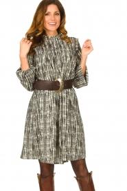 Silvian Heach |  Printed dress Bartlett | black  | Picture 4
