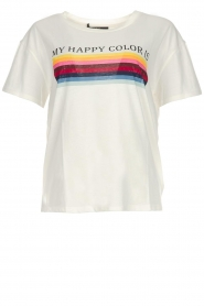 Set |  T-shirt with text print Tell | white  | Picture 1