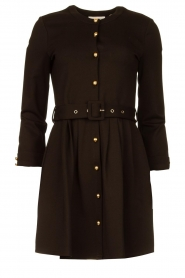Silvian Heach |  Button-up dress Chimpansee | black  | Picture 1