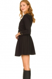 Silvian Heach |  Button-up dress Chimpansee | black  | Picture 7