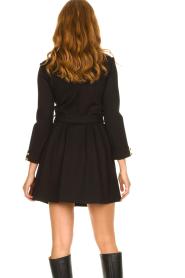 Silvian Heach |  Button-up dress Chimpansee | black  | Picture 8